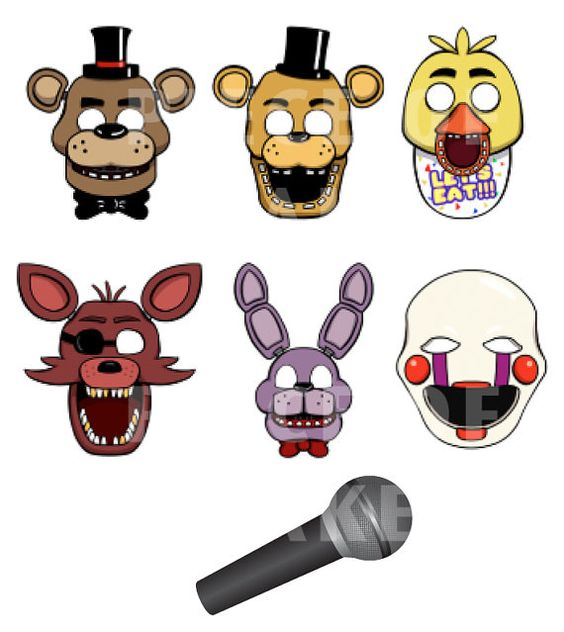 Five night s at freddy s mask prop set by pieceofcakepartyplan