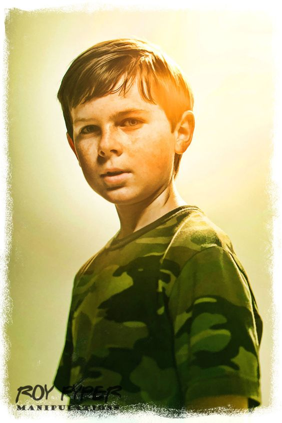 The Walking Dead: Carl: BuzSim Paint Re-Edit by nerdboy69 on deviantART