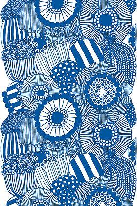Marimekko's Siirtolapuutarha cotton fabric.