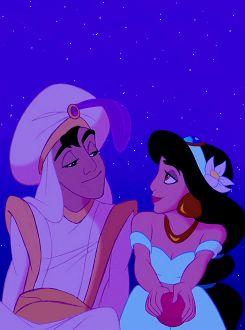 Aladdin and Jasmine. Adorbs. Love the disney princess tumblr!