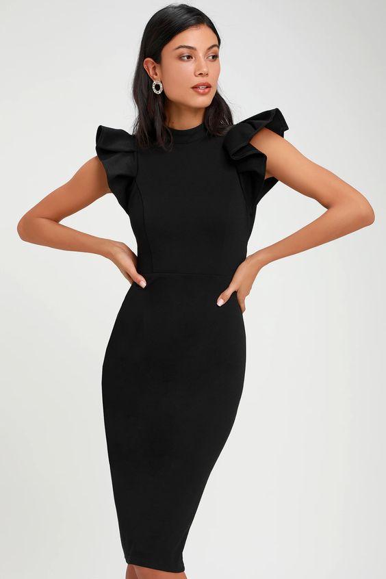 Modelo de Vestido Tubinho gentil