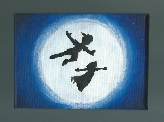 Peter Pan and Wendy silhouettes | Artsy fartsy | Pinterest ...