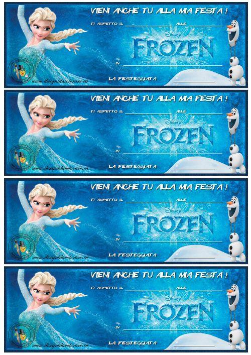 Famoso Inviti Compleanno: Frozen | Images.Pattern: Biglietti e Schede  DU72