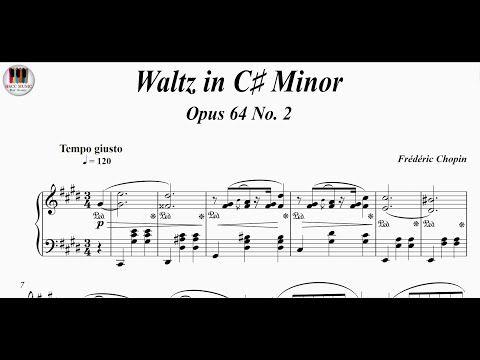 Waltz In C Minor Opus 64 No 2 Frédéric Chopin Piano Youtube Piano Piano Music Piano Youtube