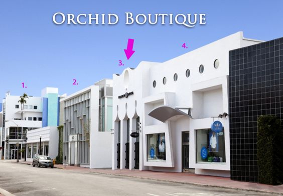 A prime location for Orchid Boutique in South Beach between Armani Exchange and Adidas.