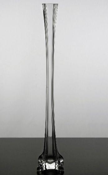 Clear glass eiffel tower inch vase