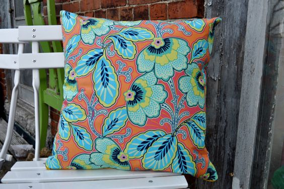 Throw pillow cover with zipper 18 funky by ForestFloorDecor, $15.00