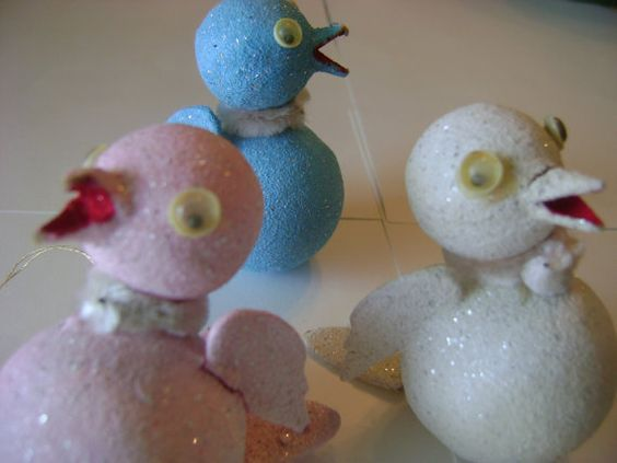 Vintage Christmas Ornaments Mica Glitter Paper by divinedecorating, $15.00