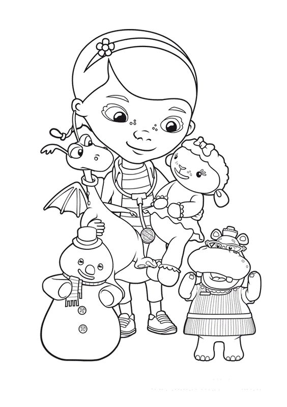 10 best para colorear images on pinterest drawings adult coloring and coloring sheets - Doc Mcstuffins Coloring Book