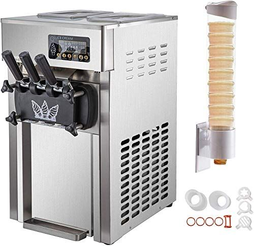 New Vbenlem Commercial Soft Serve Ice Cream Maker 4 7gallon Per