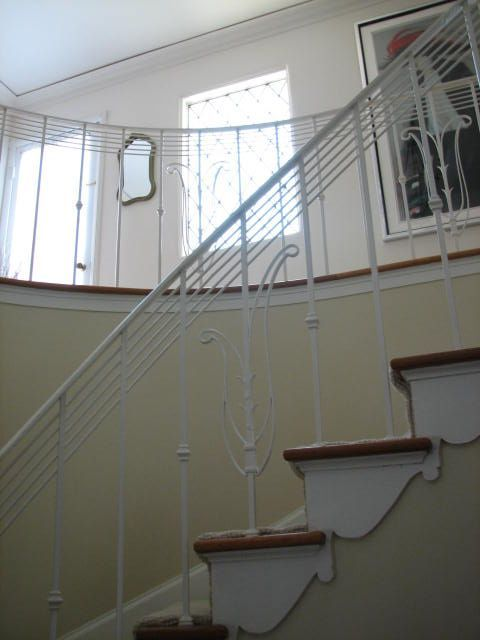 art deco railings   What did surprise me was the art deco style railings on the staircase ...
