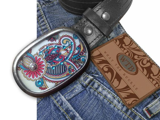 Paisley Funk Belt Buckle by WhatTheBuckle on Etsy, $30.00