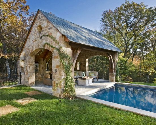 Casas de piscina, Vida al aire libre and Fotos on Pinterest