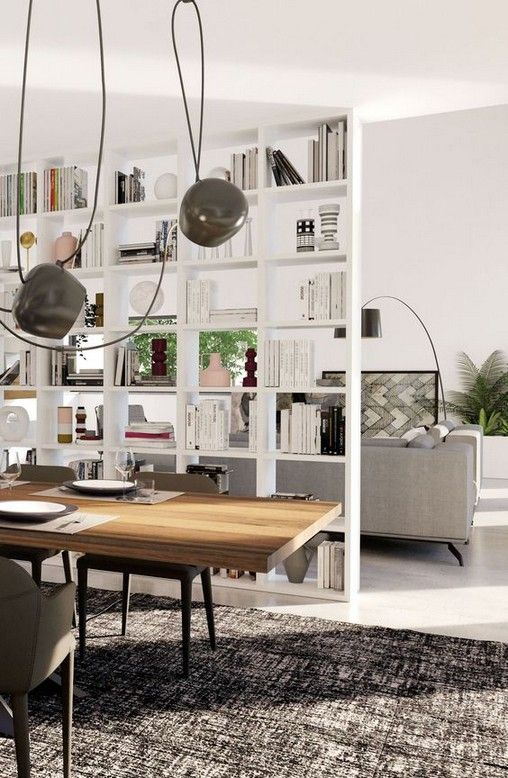 29 Ideas Of The Separate Kitchen And Living Room Living Room Cozy Bookshelf Room Divider Room Divider Shelves Diy Room Divider #separate #kitchen #from #living #room #ideas