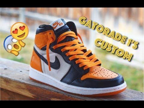 Gatorade 1 Orange Peel Shattered Backboard Custom On Feet