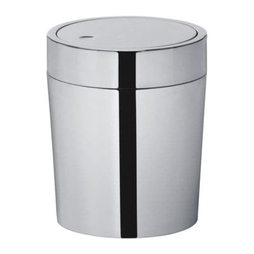 Savern Trash Can Stainless Steel 1 Gallon Bathroom Trash Can Trash Can Sink Accessories