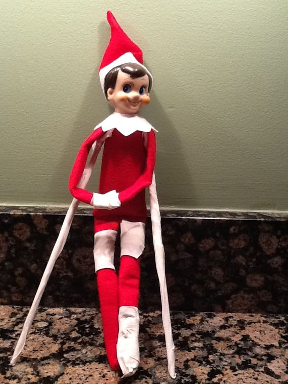 Poor Elf On The Shelf Got Too Close To The Light And Went