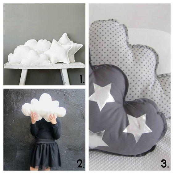 Cojin nube y estrella para chichonera cuna bebe monadas for Cojines de nubes