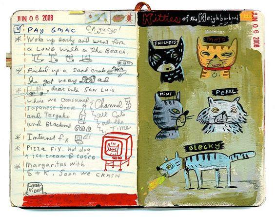 Poesjes van de wijk. Een limited edition giclee print.