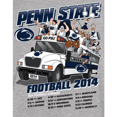 PENN STATE – SWAG – Penn State Nittany Lions 2014 Football Schedule T-Shirt