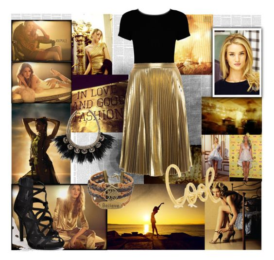 """""""Gold look"""" by eliskaozanikova ❤ liked on Polyvore featuring Angelo, Animale, Boohoo, A.L.C. and Stella & Dot"""