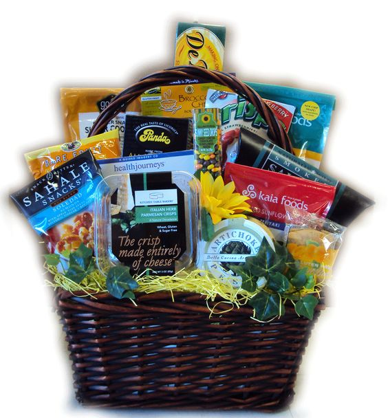 Healthy Birthday Gift Basket For Her : Menopause get well gift basket for her healthy baskets