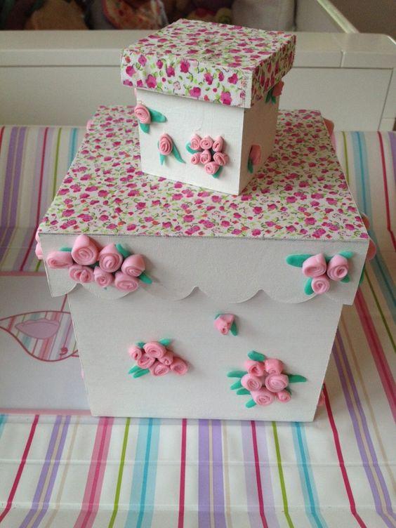 Ajuar nacimiento bebes regalos cajas personalizadas - Cajas de carton decoradas para bebes ...