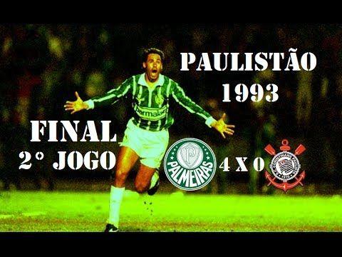 Palmeiras 4 X 0 Corinthians Campeonato Paulista 1993 2ª Final Gols Campeonato Paulista Palmeiras Paulista
