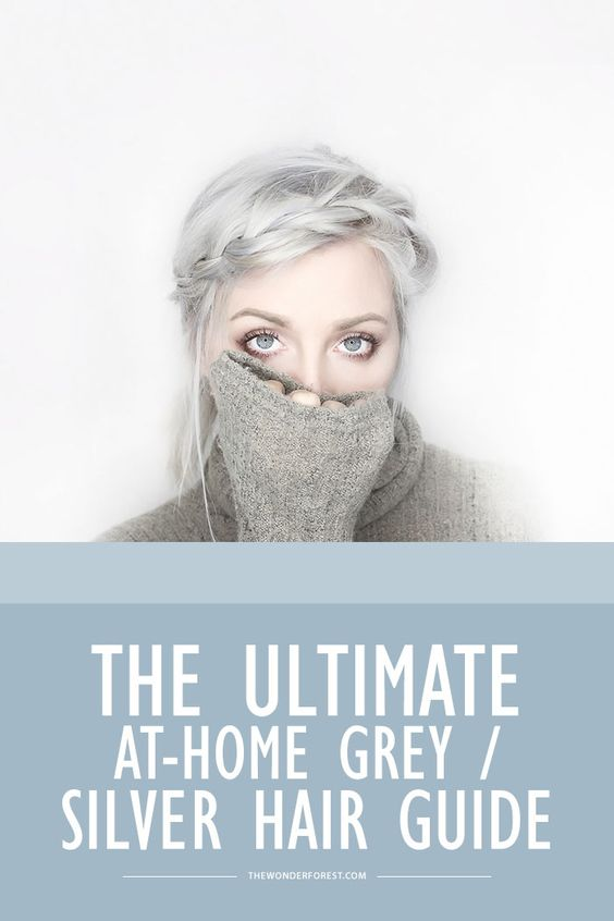 The Ultimate Guide to Dyeing Your Hair Silver or Grey at Home – Wonder Forest