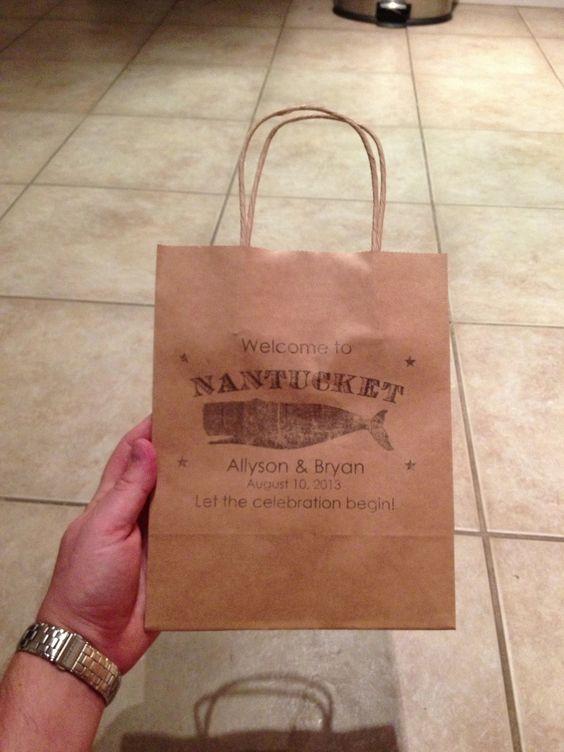 Wedding Welcome Bag Ideas Pinterest : Nantucket wedding, Wedding welcome bags and Welcome bags on Pinterest