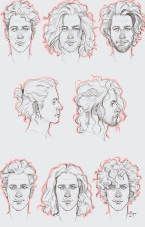 44 Ideas For Hair Men Drawing Curly Hair Drawing Curly Hair Drawing Drawing Male Hair How To Draw Hair