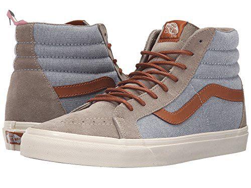 Vans U Sk8-Hi Reissue Leather, Sneakers Hautes Mixte Adulte, Marron (Premium Leather/Tortoise Shell), 42 EU