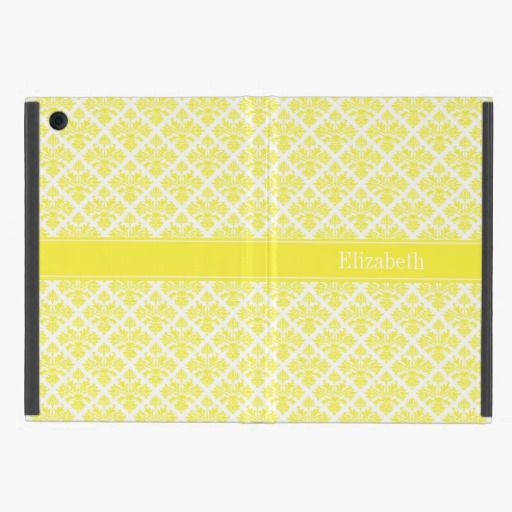 Awesome! This Vintage Yellow Wht Damask
