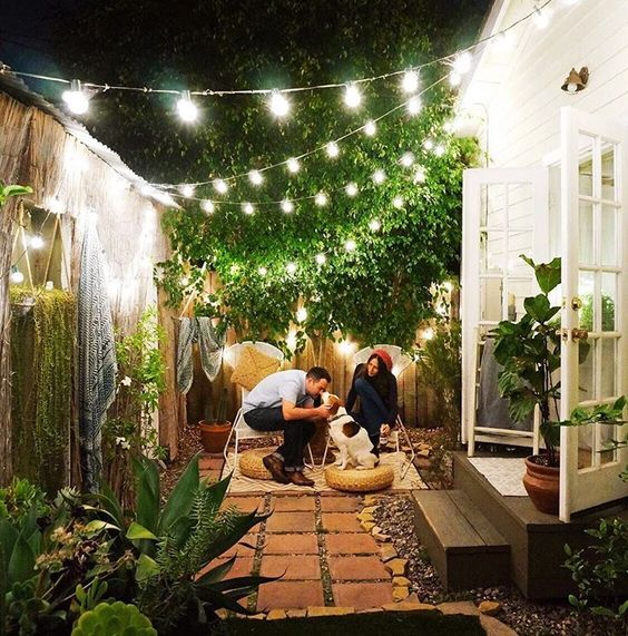 Jardin guirlande lumineuse