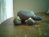 Creación Artesanal Decoración para jardín con Tortuga de piedra