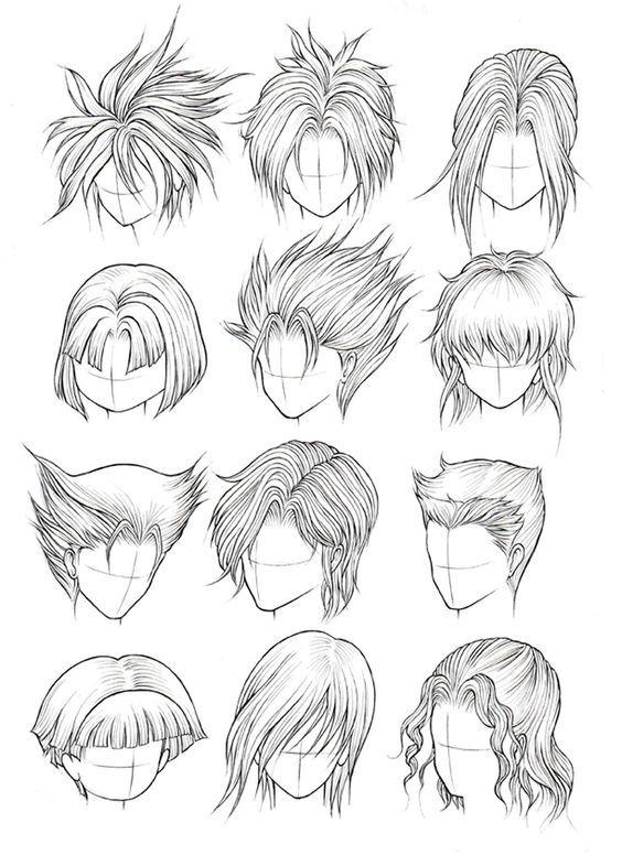 Quer Aprender A Desenhar De Verdade Clica Na Foto In 2020 Anime Hair Boy Hair Drawing Manga Hair
