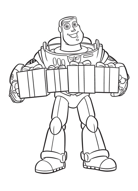 Buzz Lightyear Presents Coloring Page Toy Story Coloring Pages Disney Coloring Pages Free Disney Coloring Pages