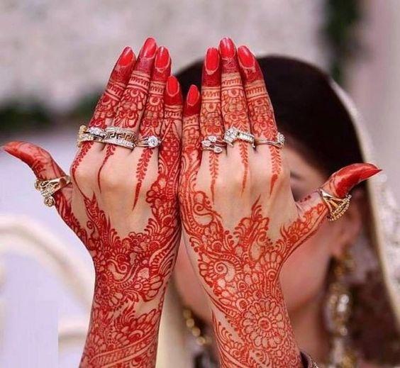 new bridal mehndi designs for hands 2014