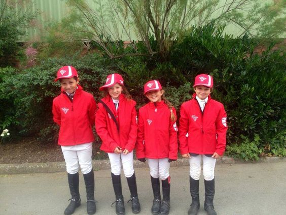 Dylan and his other under 10's England North Team mates who jumped at the Netley hall pony classic representing England North
