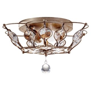 OVERSTOCK Shop for Leila Burnished Silver 2-light Flush Mount Fixture. GClub O!