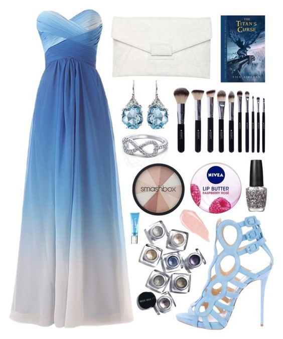 """""""Bookworm Prom"""" by littlemissalpha ❤ liked on Polyvore featuring Giuseppe Zanotti, Witchery, Bobbi Brown Cosmetics, OPI, Shany, Nivea, Smashbox, Alexis Bittar, Beauty Rush and women's clothing"""