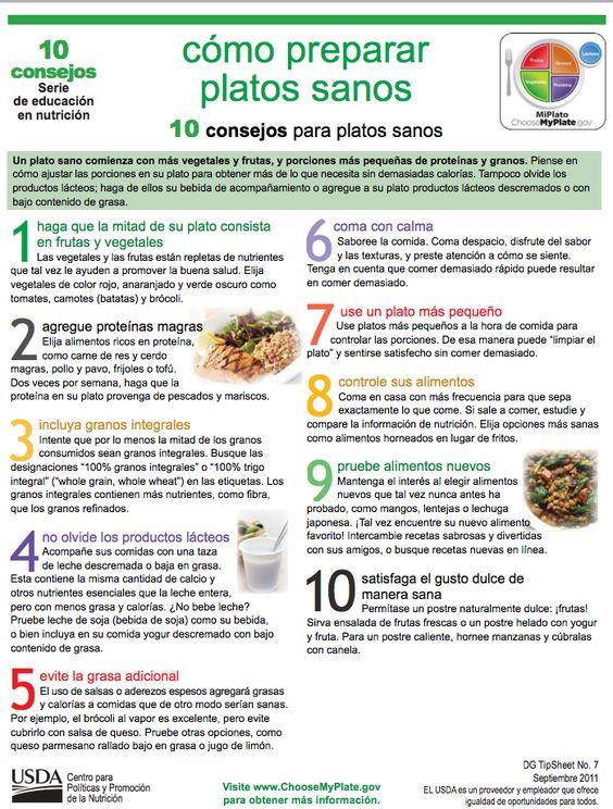 10 consejos para platos sanos un plato sano comienza con - Platos sencillos y sanos ...