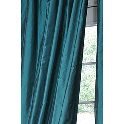 Exclusive Fabrics Faux Silk Signature Teal 96-inch Curtain Panel