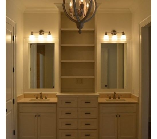 tower in center of bath vanity bathroom storage and