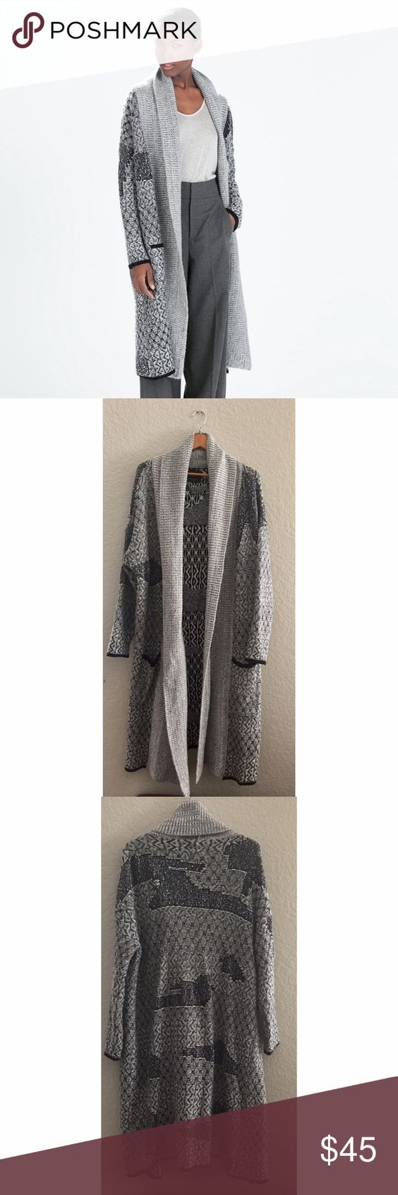 Zara sweater coat | Coats, Grey and Long sweaters