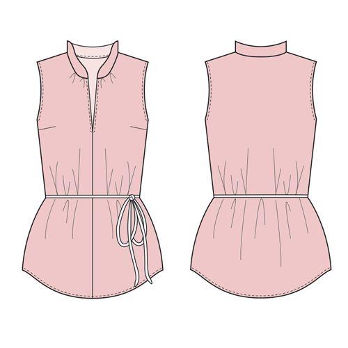 Free Sewing Pattern: A Simple Magyar/Kimono Blouse. Blouse size UK s ...