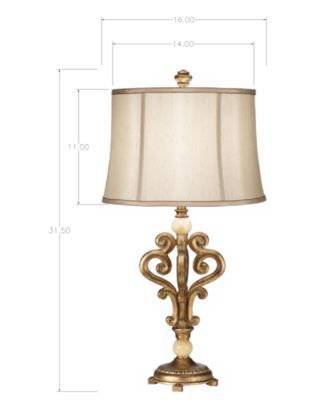 Pacific Coast Traditional Scroll Table Lamp Lamp Table Lamp Marble Accents