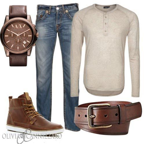 Cool Effortless Look, I'd prefer to see different shoes but I dug the button up Henley!
