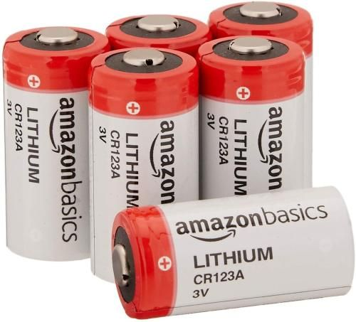 Amazonbasics Lithium Cr123a 3 Volt Battery Pack Of 6 In 2020 With Images Battery Pack Batteries Ebay