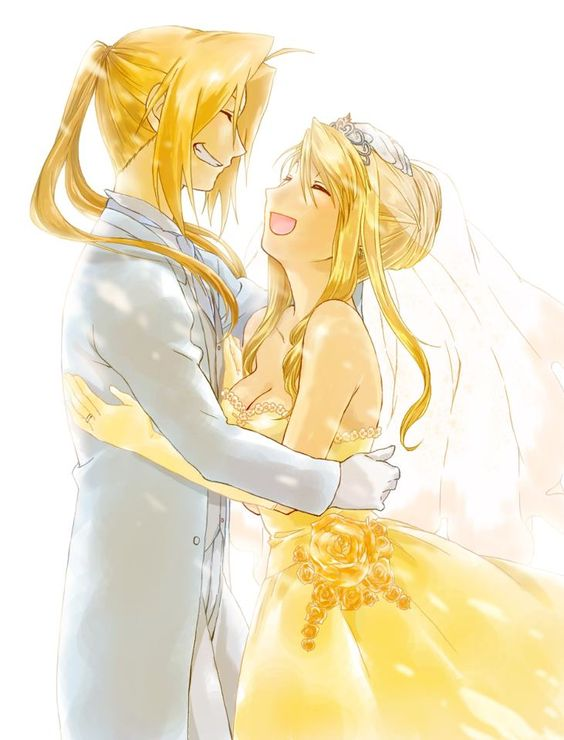 Edward Elric And Winry Rockbell Married Edward elric, Wedding ...